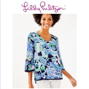 """Lilly Pulitzer """"Florin"""" reversible top L"""